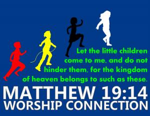 Childs Worship Bag Logo Royal Blue