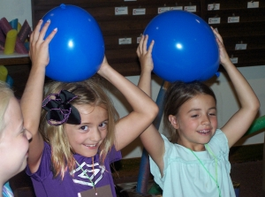 Balloons at Vacation Bible School